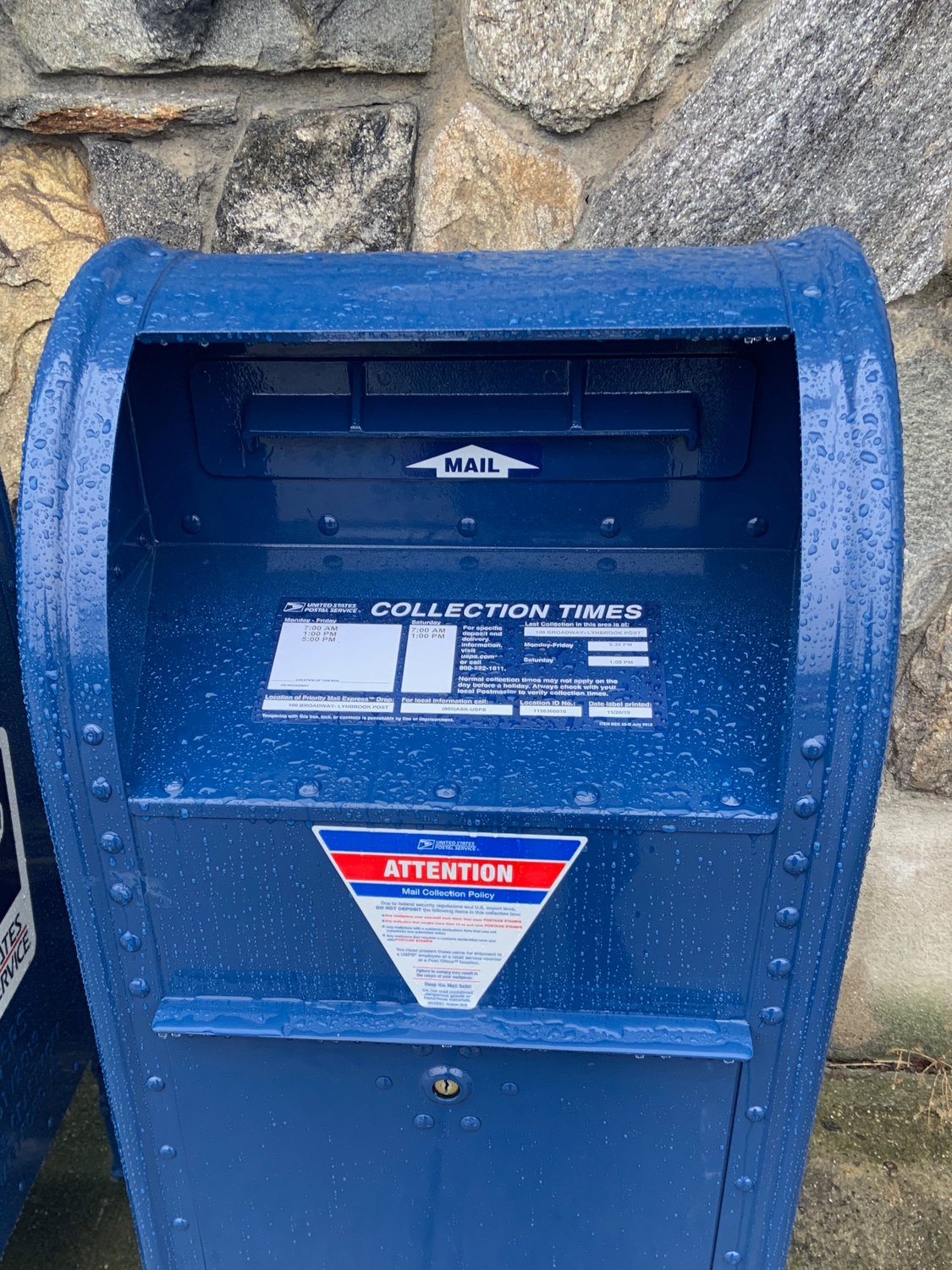 The Lynbrook Post Office installed these new mailboxes outside the facility in response to a rash of thefts in the village. The U.S. Postal Service plans to modernize every mailbox in Nassau County.