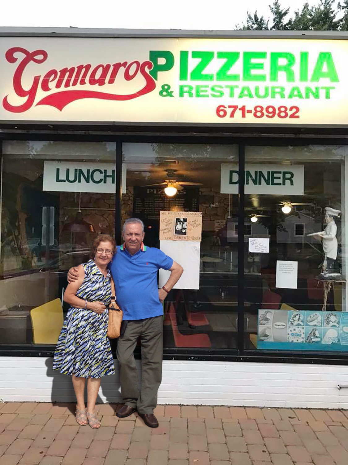 Gennaro and Sandra Savastano ran their popular Glen Head pizzeria side by side for nearly 30 years.
