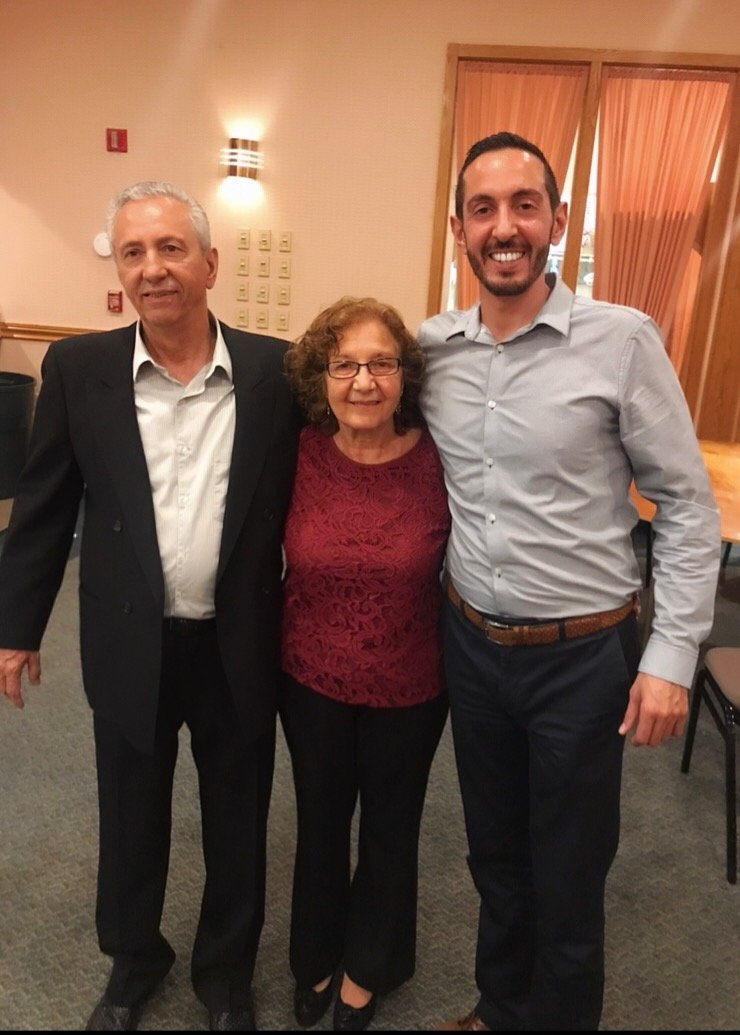 Gennaro, left, Sandra and Gennaro Savastano Jr. were thrilled with the turnout at the retirement party.