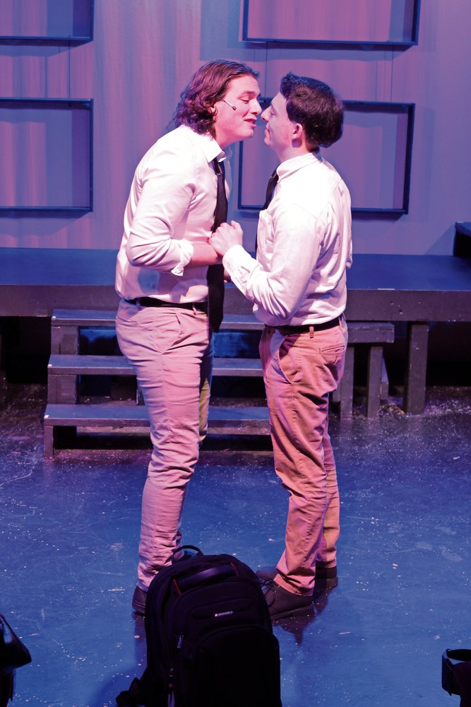 "Liam Attridge, left, played Jason opposite Castello's Peter in ""Bare"" on opening night. The musical depicts teens navigating coming-of-age issues in Catholic school."