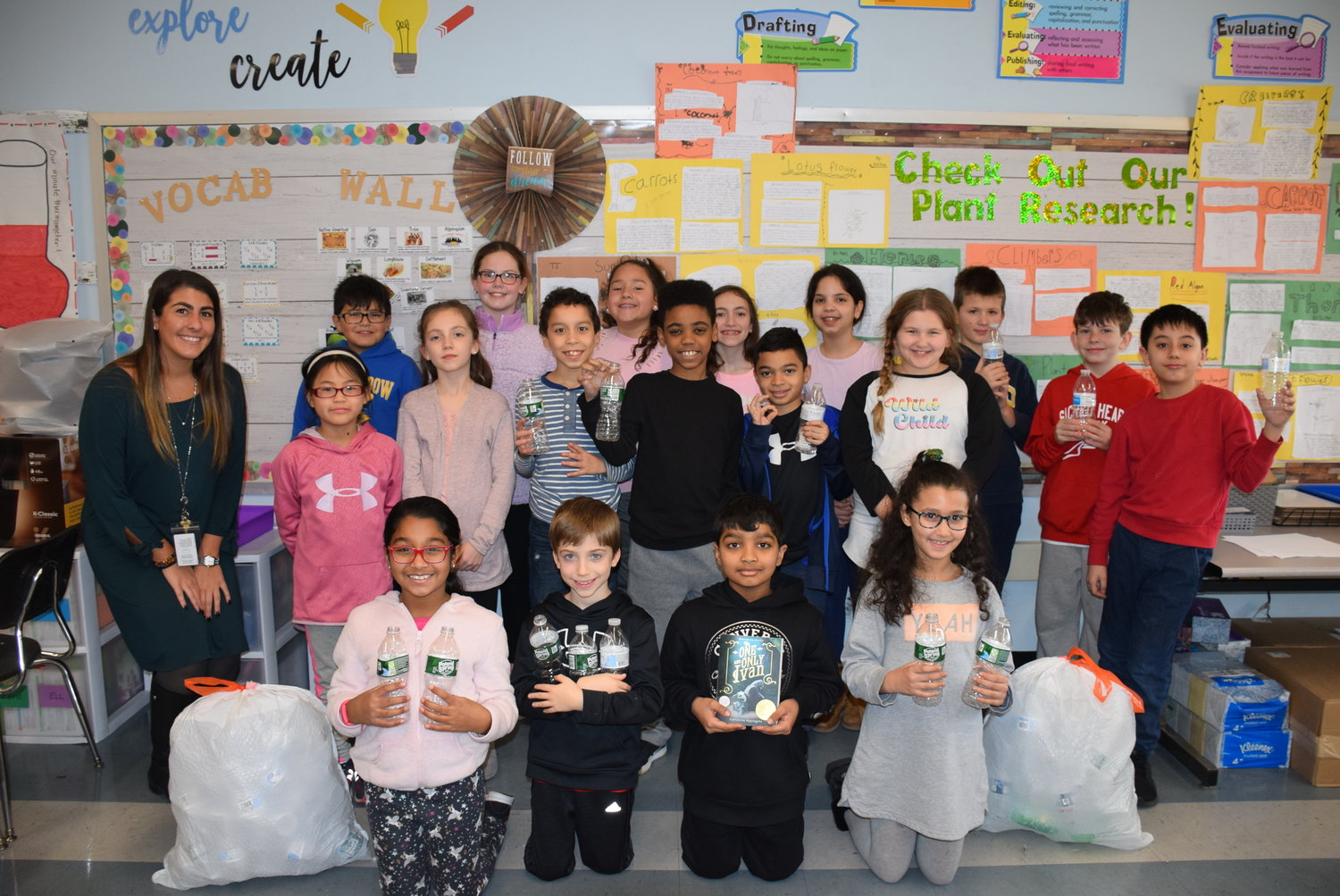 "Chiara Marangelli's fourth-grade class at Parkway Elementary School ""adopted a bear"" through the World Wildlife Fund after donating money to the animal protection organization."