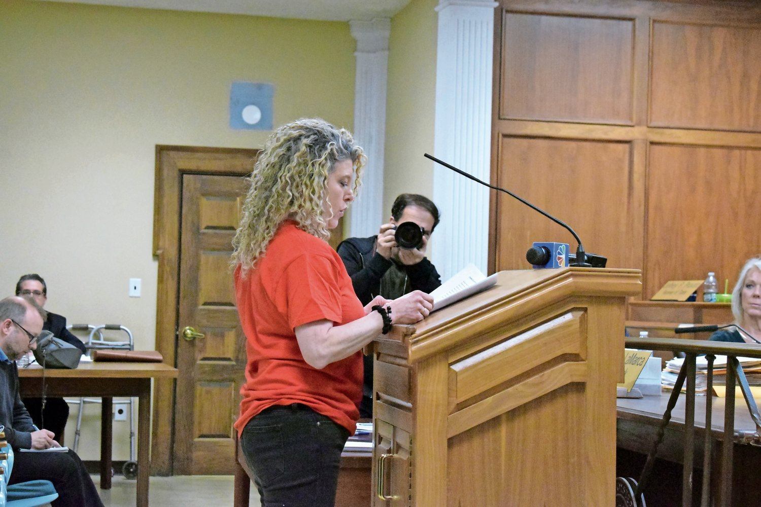 Lori Prisand advocated for changes at the Oyster Bay Animal Shelter during a Town Council meeting on Feb. 11.