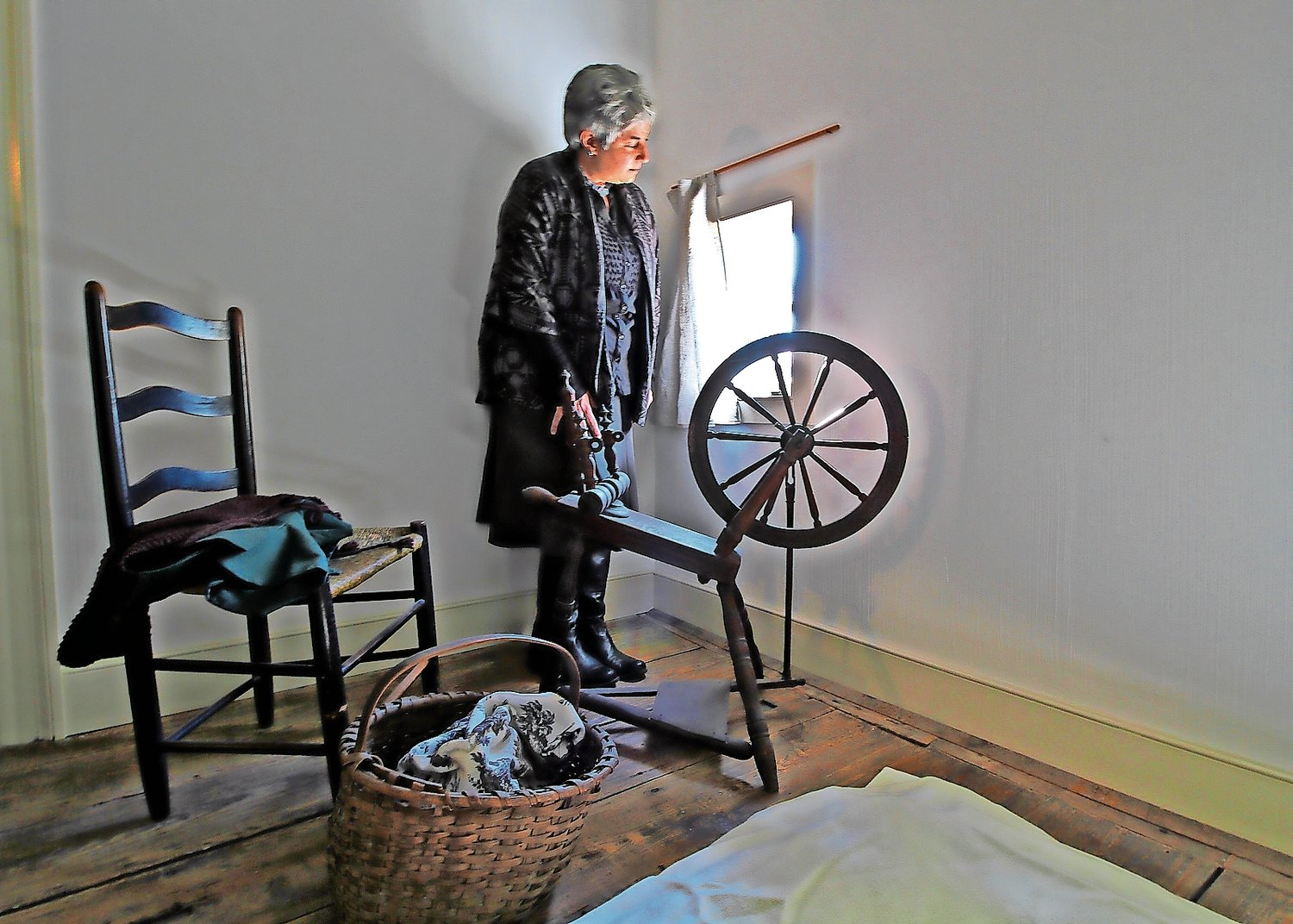 "Claire Bellerjeau, a historian and the director of education at Raynham Hall Museum, uncovered names and details about slaves who lived in this room at the house museum. She will present the program ""Standing Where They Stood"" on Saturday."