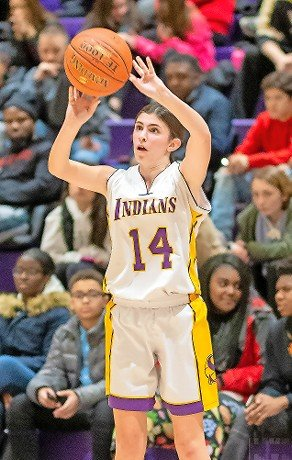 Senior Ashley Vigliotti poured in 16 points to help Sewanhaka defeat West Hempstead, 50-39, in a Nassau Class A playoff game last Friday.