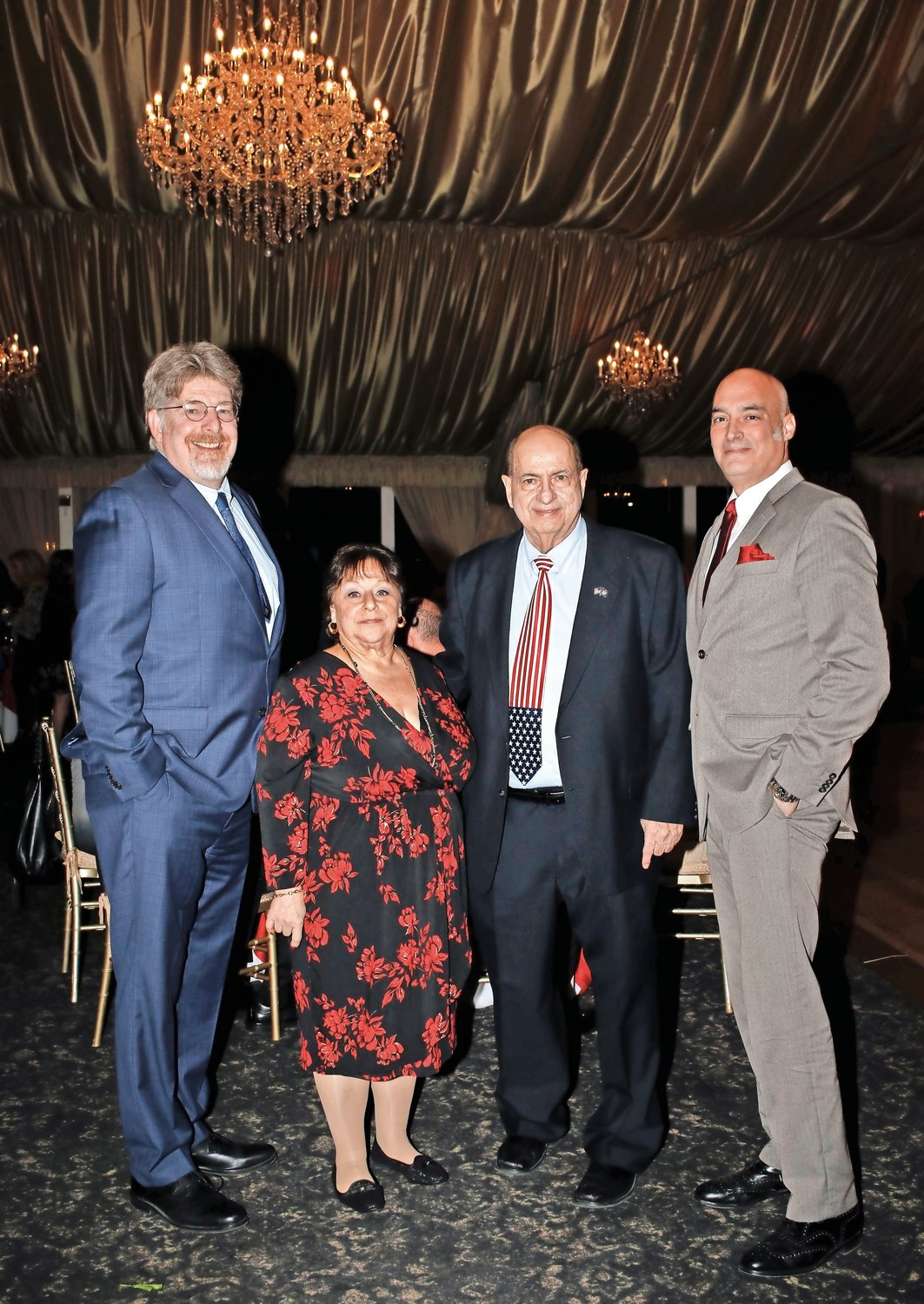 Island Park Chamber of Commerce members, from left, Mike Scully, Barbra Rubin-Perry, Joe Pontecorvo and Glenn Ingolia attended the event.