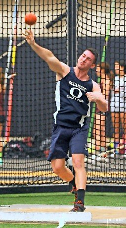 Oceanside's Daniel Mullen captured the Nassau County Class A title in the shot put.