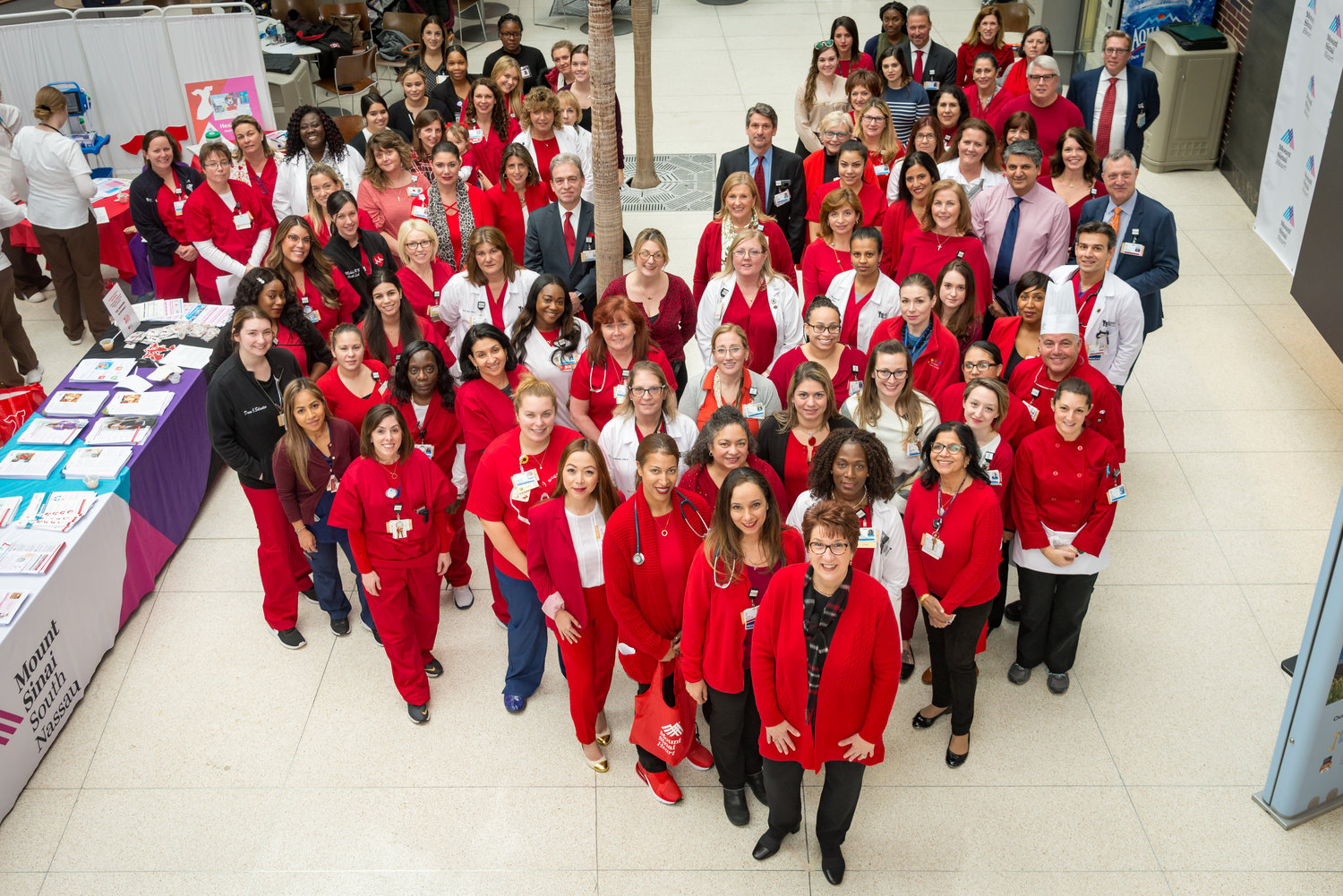 Mount Sinai South Nassau hosted its annual Go Red for Women Day celebration on Feb. 7, which promoted heart health.