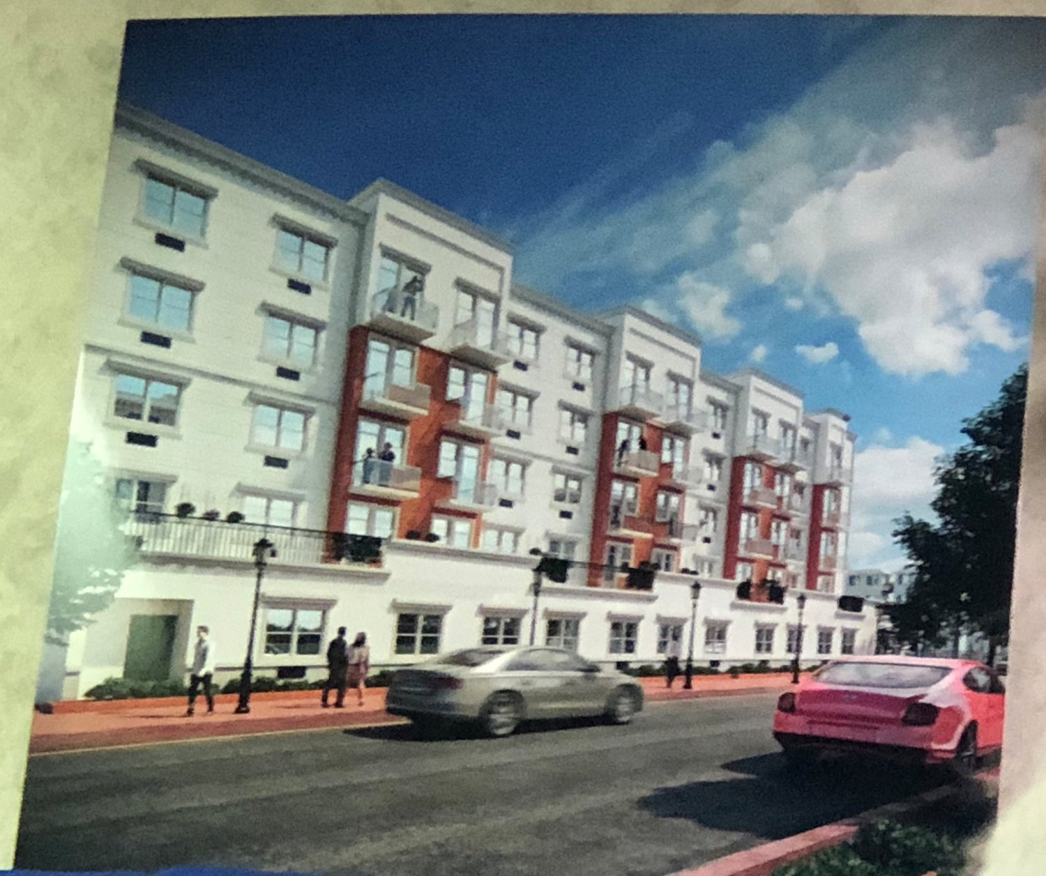 A Town of Hempstead Board of Appeals hearing for a proposed five-story building at the intersection of Bayview Avenue and Russell Place in Inwood was adjourned to April 29.
