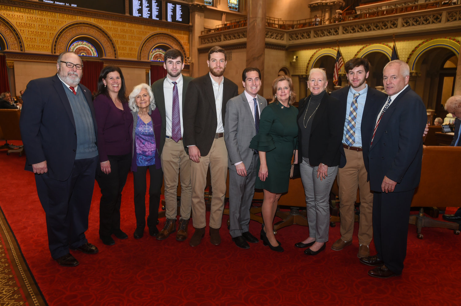 Members of the O'Shea family traveled to Albany last month, where they were recognized by the state legislature.