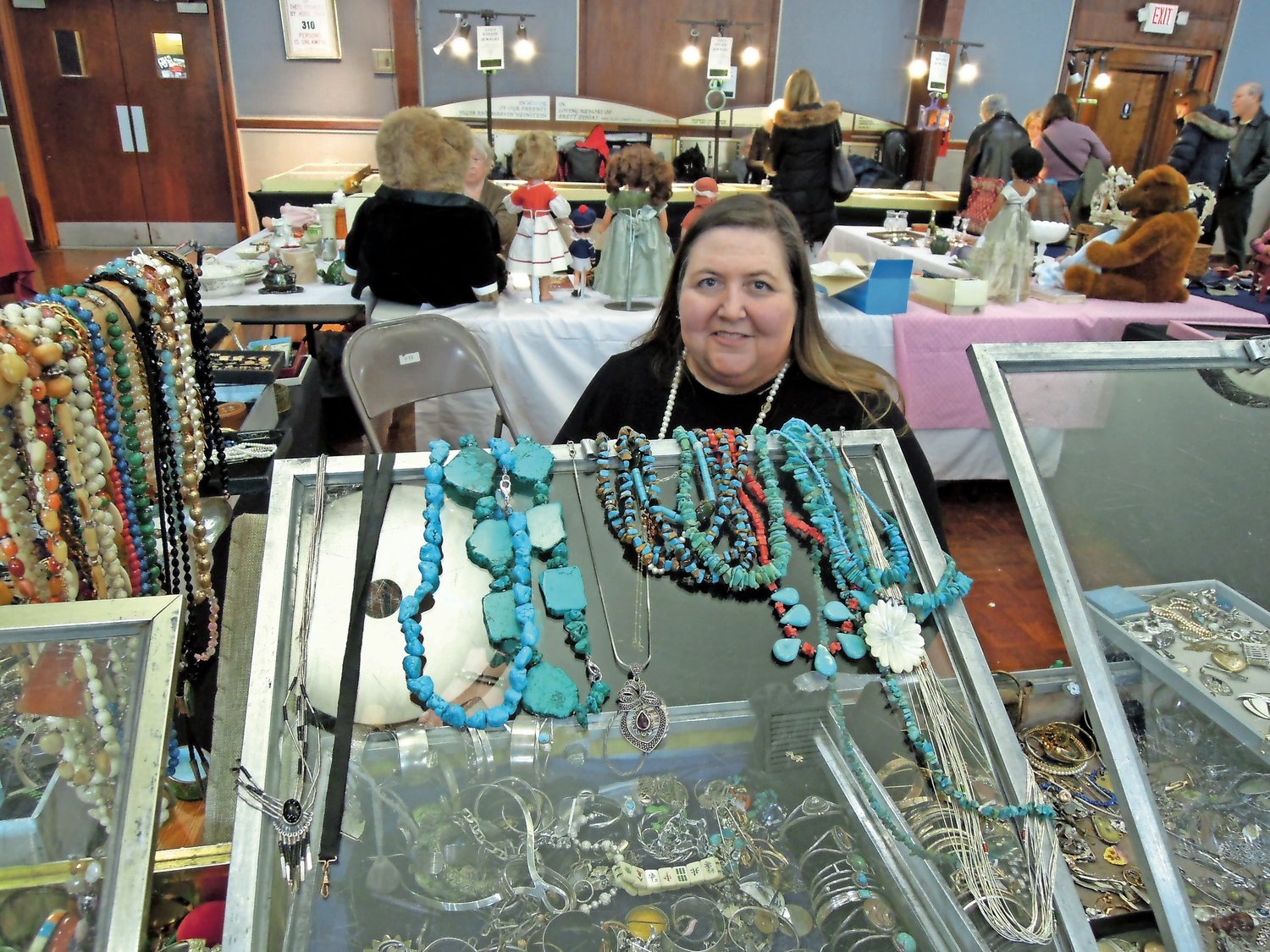 Karen Edeen, of East Marion, has sold at shows like the one at Temple B'nai Torah in Wantagh last Sunday for 30 years.