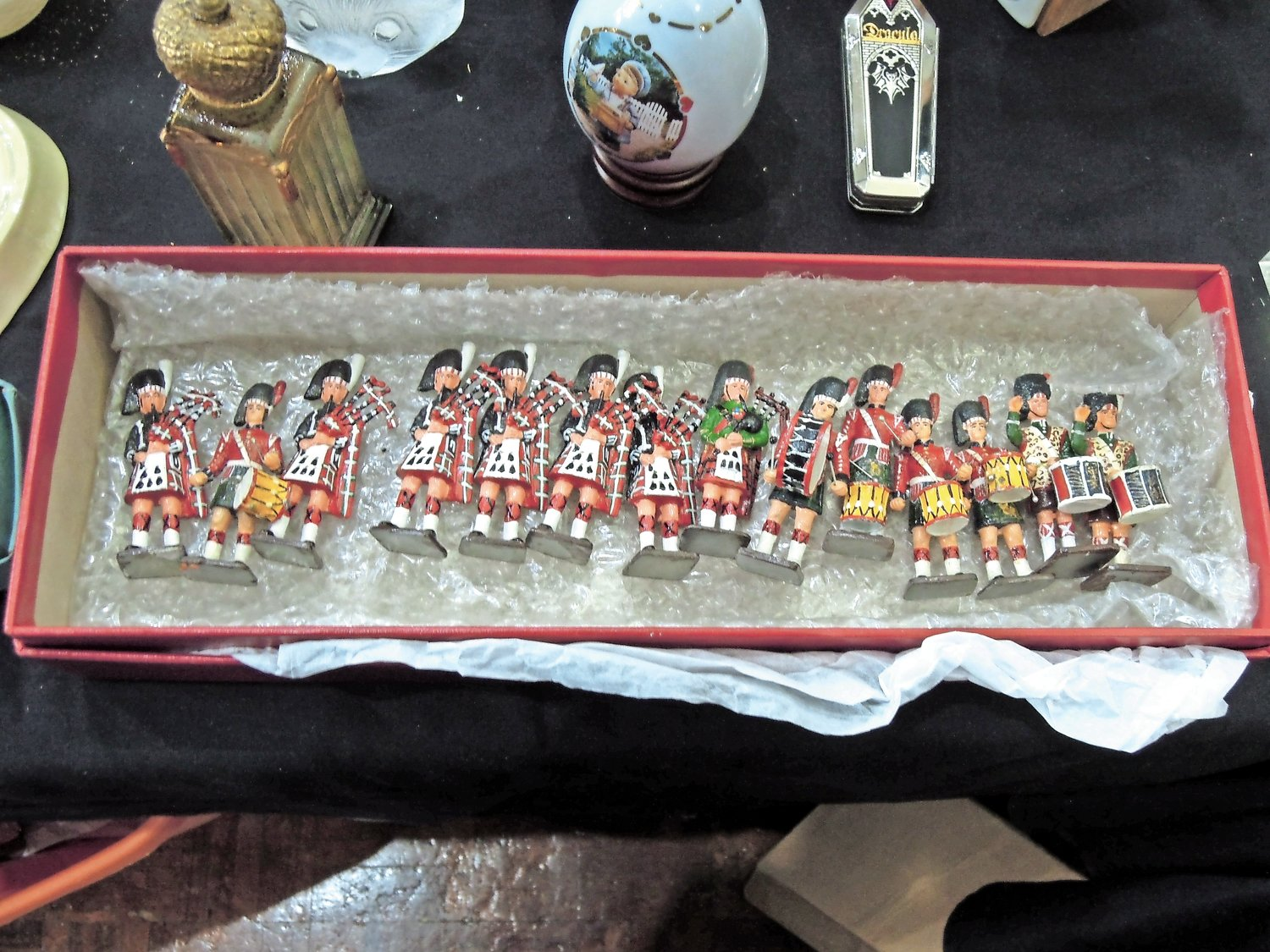 A set of miniature Scots soldiers offered at Jim Ritchie's booth.