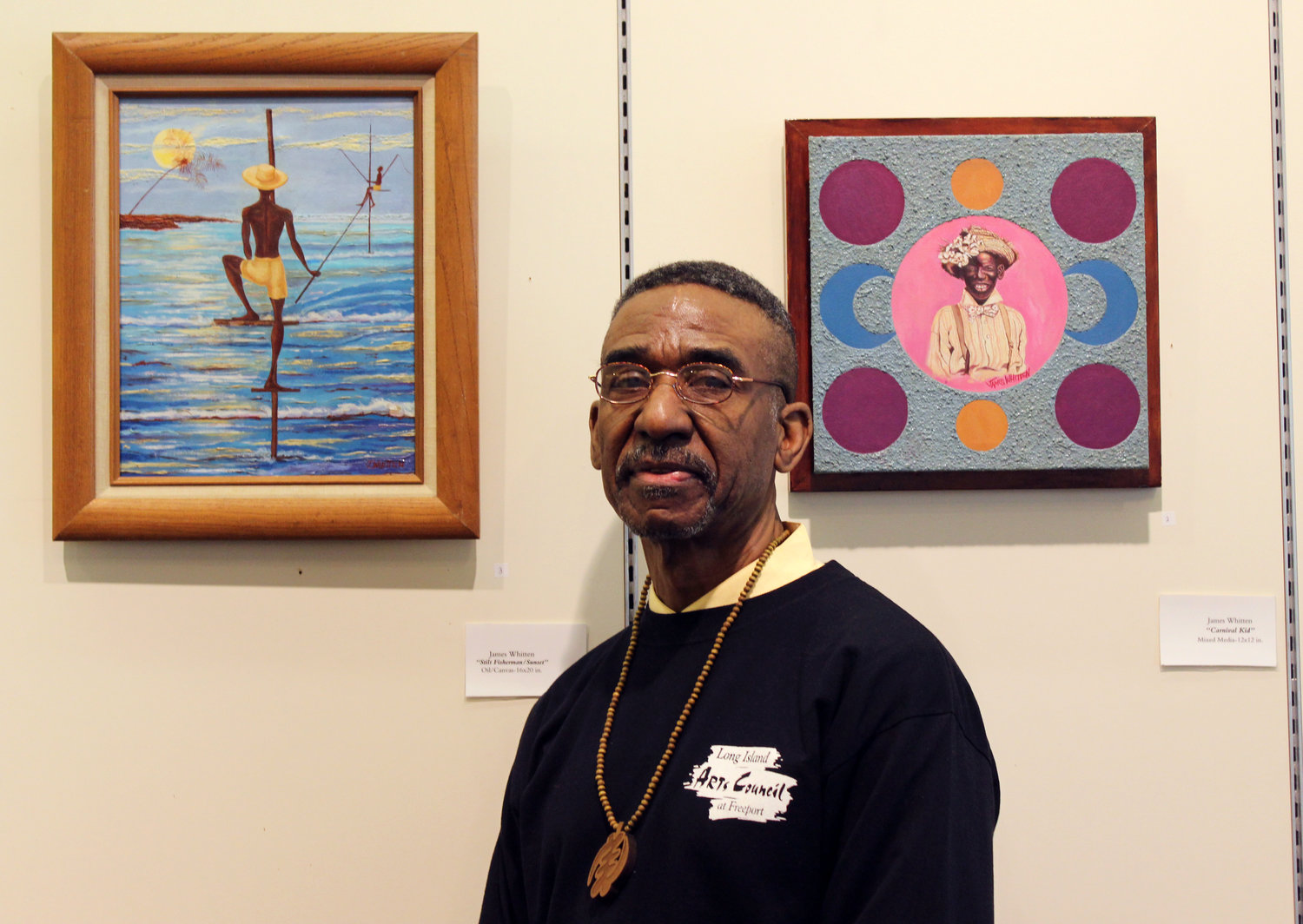 James Whitten is the East Meadow Public Library's resident artist for February, and his work will be on display all month at a pop-up gallery at the Samanea New York Market, the former Source Mall, in Westbury.