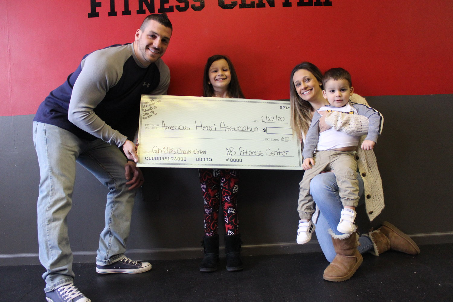Coincidentally, Gabriella's first-grade class at McVey Elementary School is also raising funds for the AHA. This year, AB Fitness Center is dedicating its charity workout to Gabriella's fundraising mission.