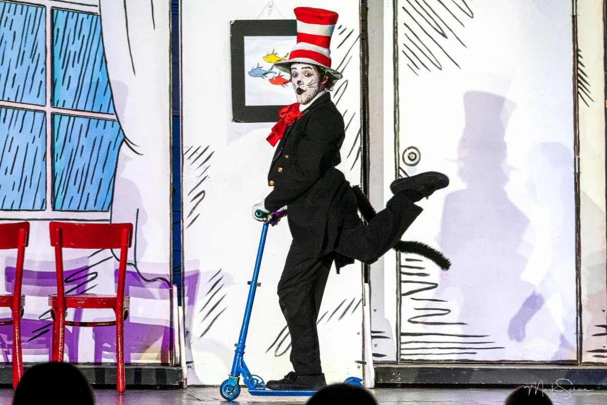 "Plaza Theatrical Productions stages """"The Cat in the Hat"" at its venue in Bellmore."