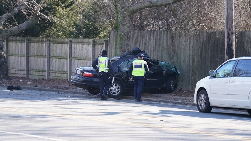 The two-car crash at the intersection of Lafayette Drive and Peninsula Boulevard at 6:55 a.m. on Feb. 21, resulted in the death of one of the motorists, police said.
