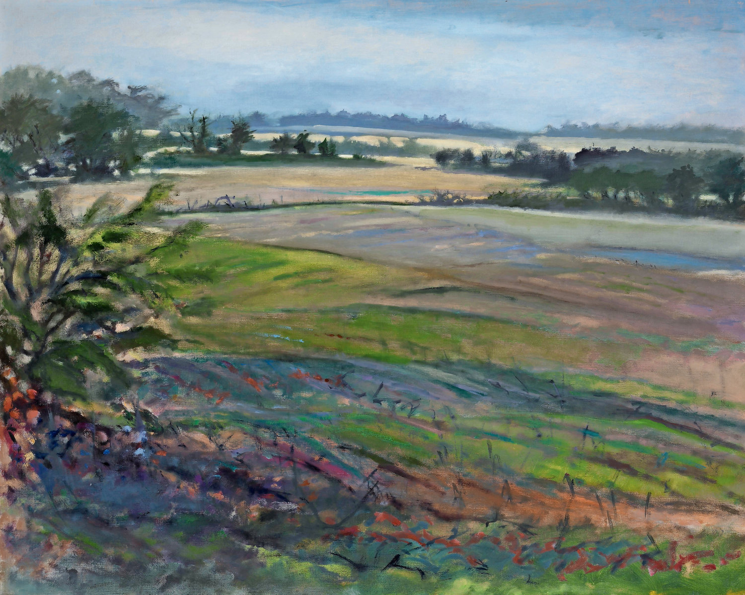 Don Resnick, Fields After Rain, 1984, oil on canvas; The Heckscher Museum of Art
