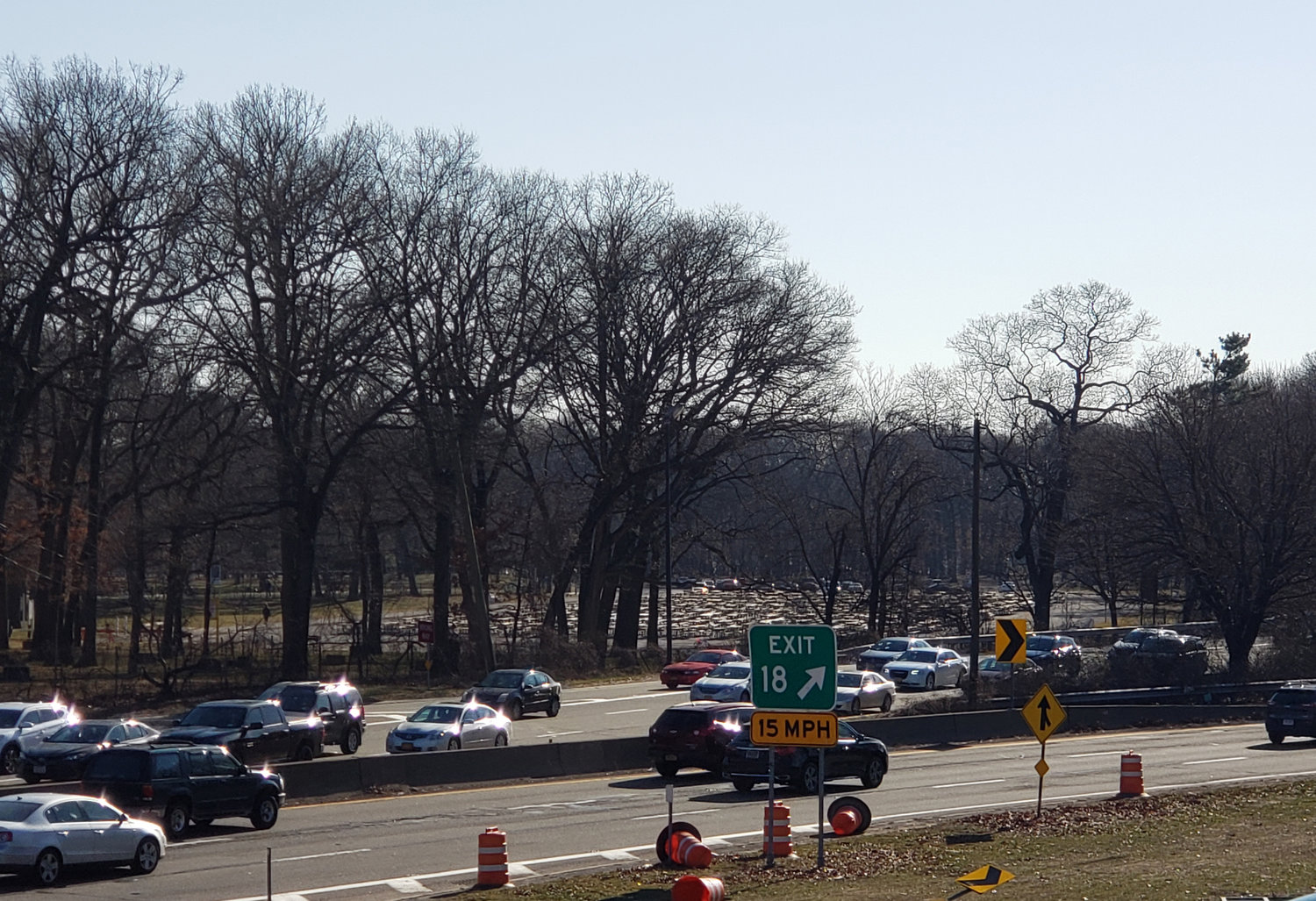 Residents have been concerned over traffic safety near Exit 18 on the Southern State Parkway for years.