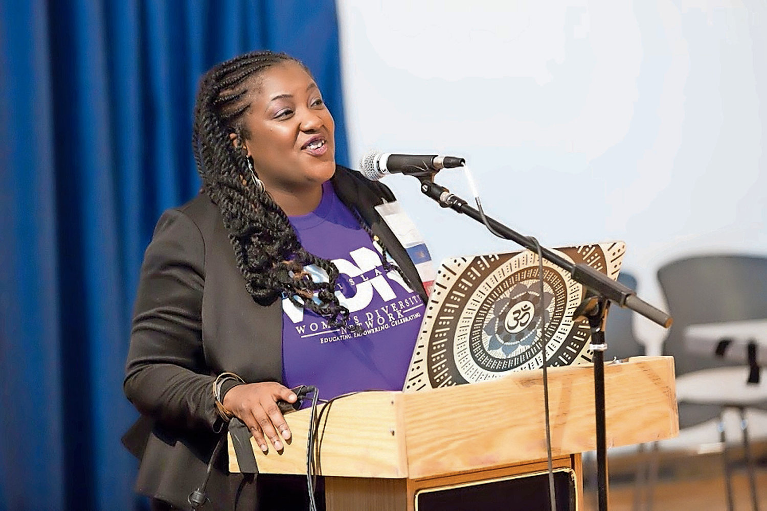 Shanequa Levin, 40, of Huntington Station, is the founder of Women's Diversity Network, a group that advocates for the racial and cultural integration of systems.