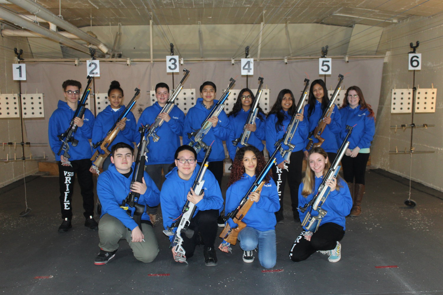 The Valley Stream Central High School District varsity rifle team closed out its second consecutive undefeated season this year.