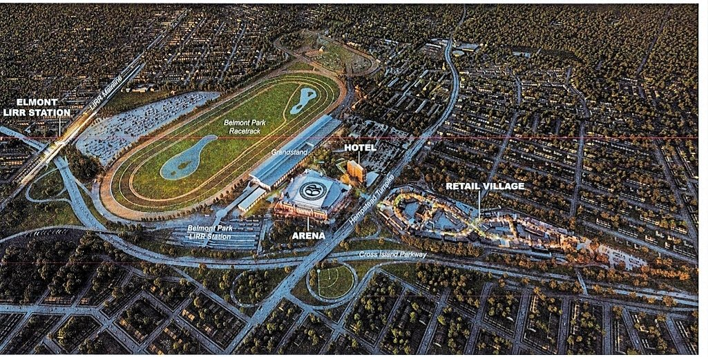 A rendering of the Belmont Park project.
