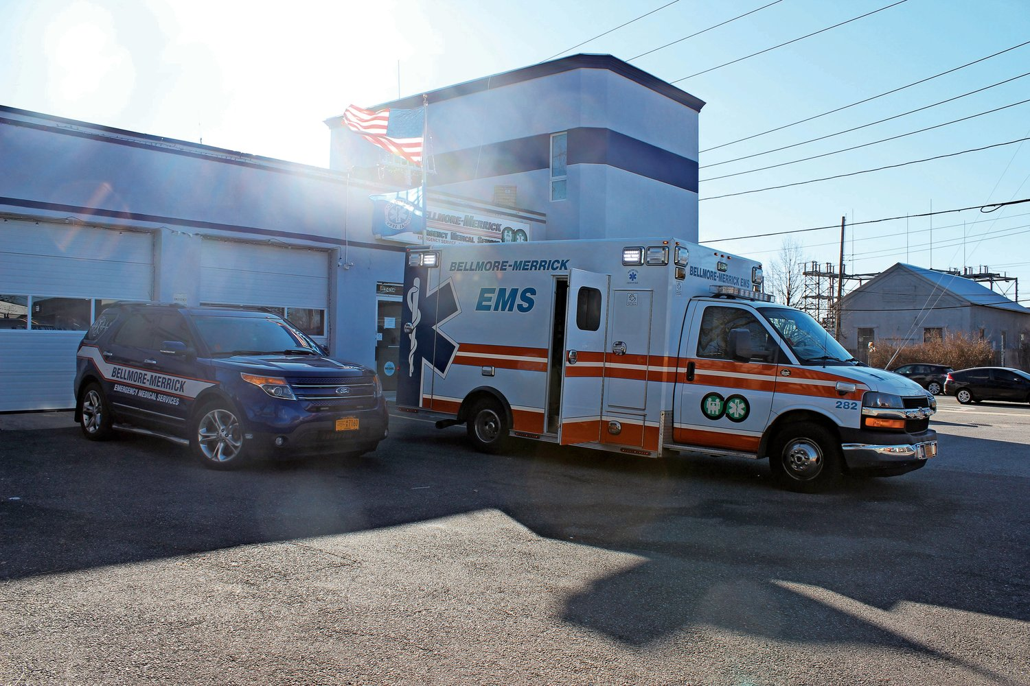 The Bellmore-Merrick Emergency Medical Services headquarters in Bellmore.
