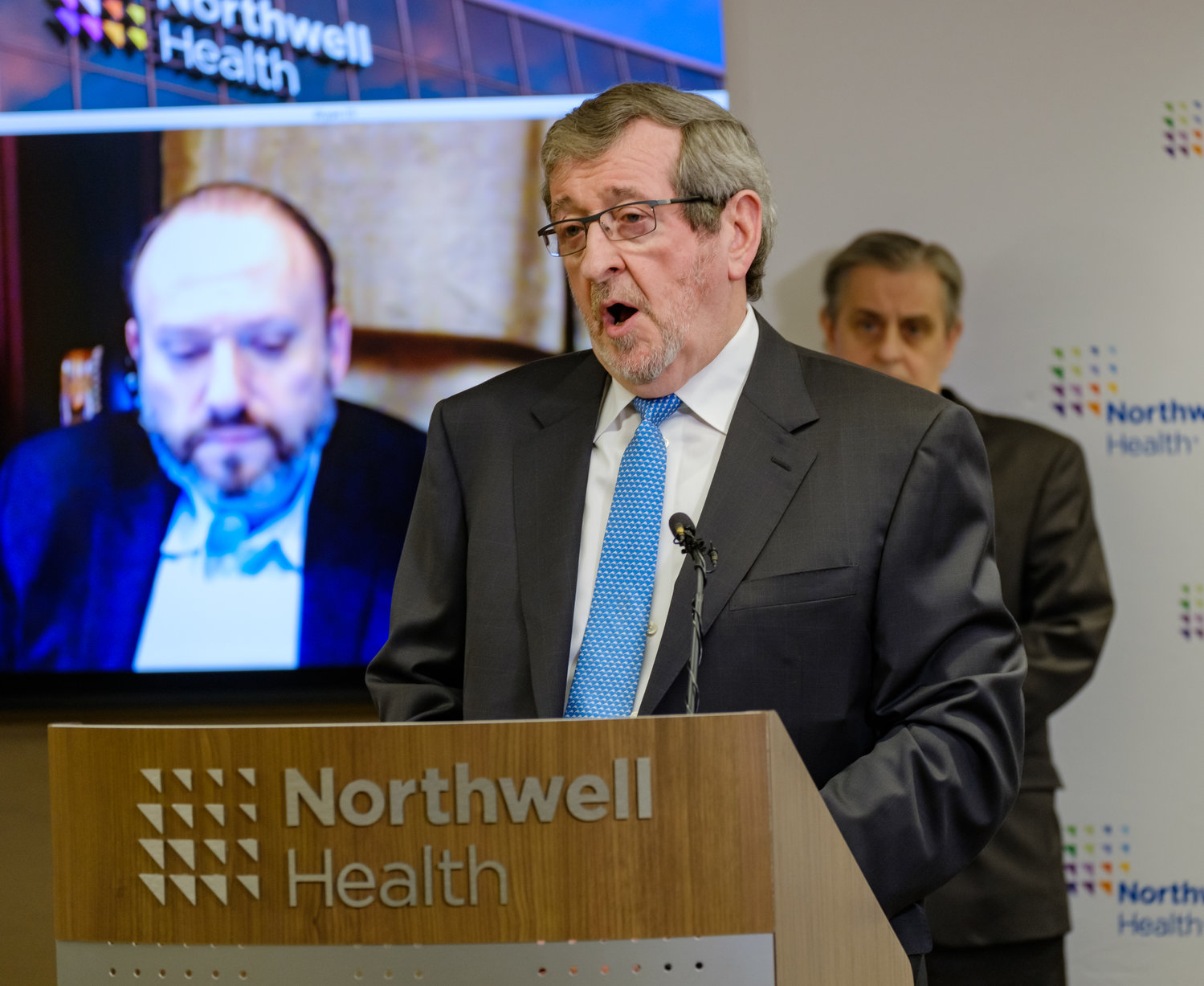 Michael Dowling president and CEO of Northwell Health, announced Friday morning that the Feinstein Institutes was undertaking clinical treatment trials for COVID-19 with hospitalized patients experiencing moderate to severe symptoms of the illness.