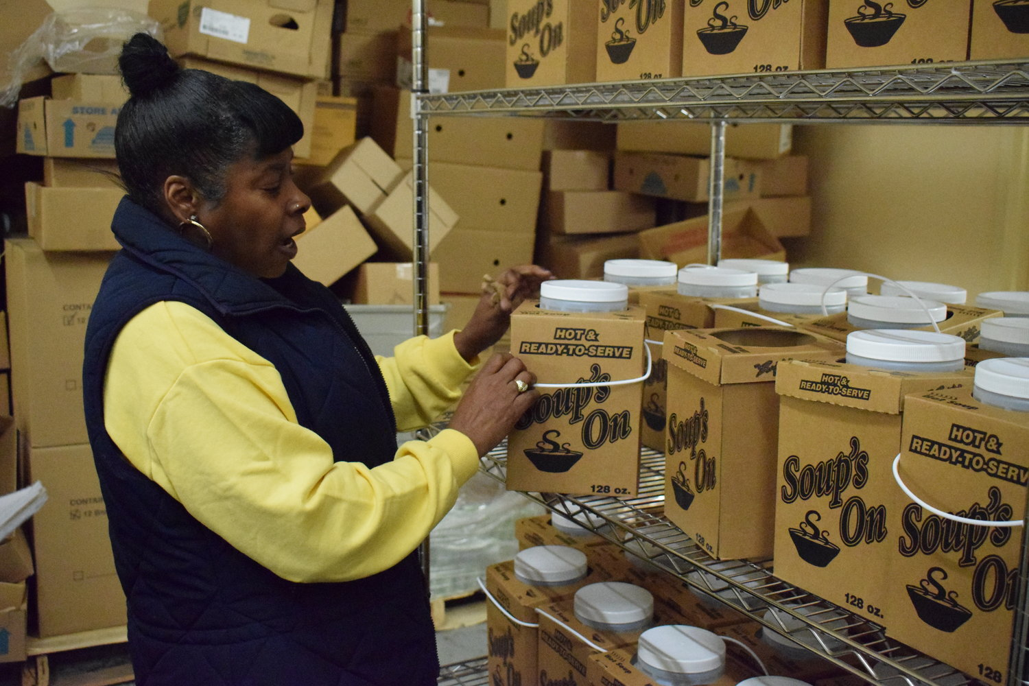 Yolanda Murray, food pantry manager for the Long Island Council of Churches, in Freeport, said the pantry was in need of cereal and soup.