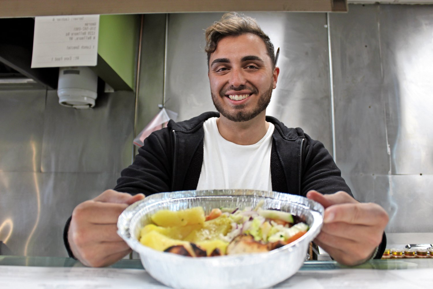 Avli's owner, Gianni Torto, has been giving out free meals to those in need during the coronavirus pandemic.
