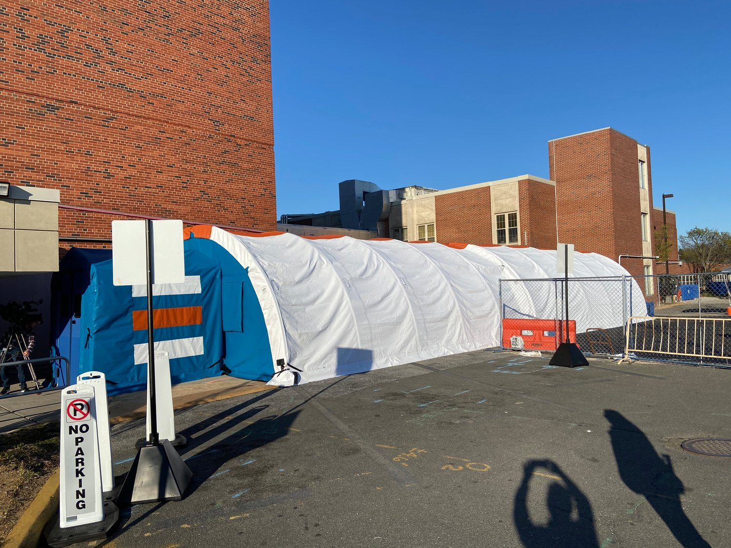 The tents will help hospital administrators separate coronavirus patients from others.