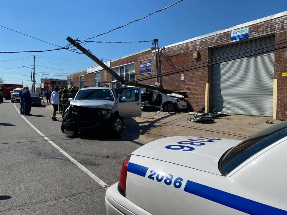 The Inwood Fire Department responded to a crash on Sheridan Boulevard at 12:20 p.m. that momentarily trapped three people.