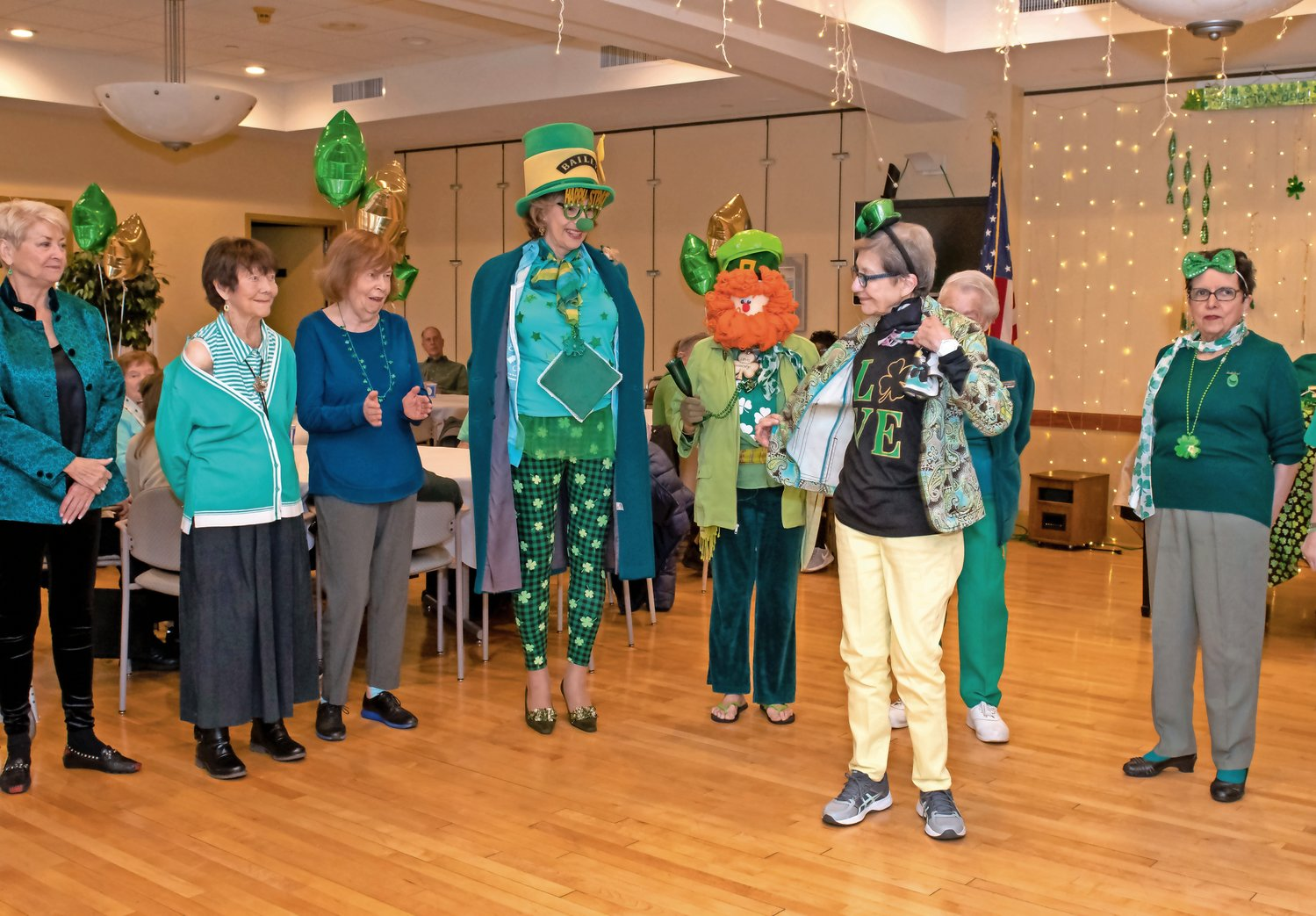 The Life Enrichment Center of Oyster Bay had one last party for St. Patrick's Day before it was closed along with all senior centers because of the coronavirus.