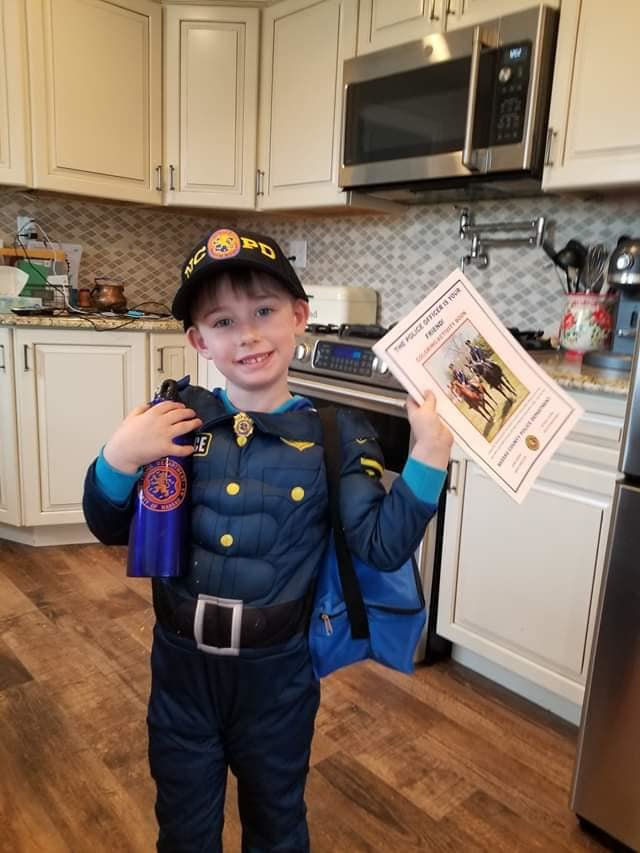 Eugene Klochkoff, 5, celebrated his birthday on March 25 with help from the Nassau County Police Department (NCPD).
