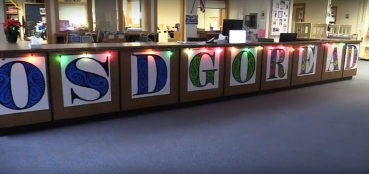 Oceanside High School won a competition with a video highlighting the OSD Go Read initiative.