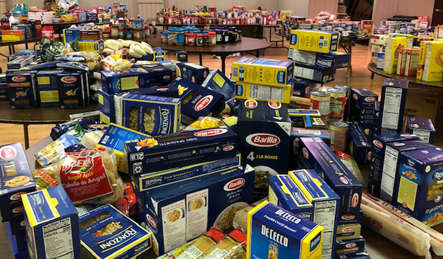 Our Lady of Lourdes Church received several donations for the food bank during their food drive from March 19-21.