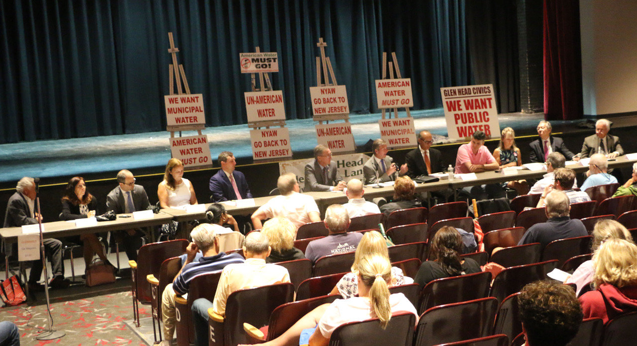 NSCC representatives said public hearings on NYAW's sale to Liberty should not be put through without public hearings.