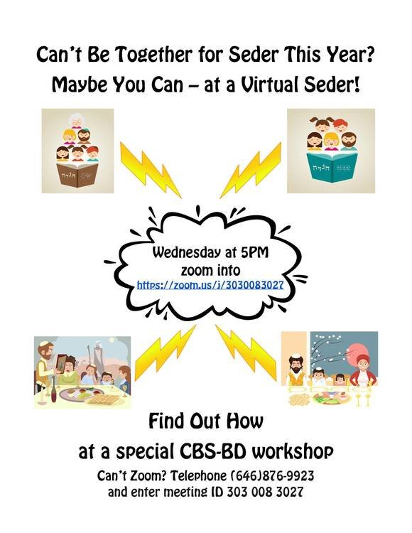 Rockville Centre's Congregation B'nai Sholom-Beth David is offering a workshop to its congregants on how to hold a virtual seder.