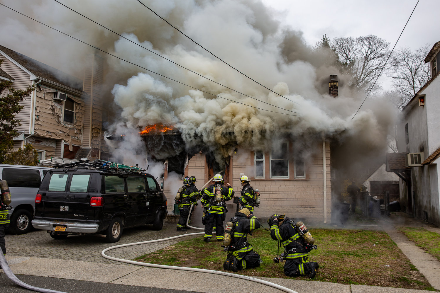 Lynbrook and East Rockaway firefighters responded to a home on Elbert Street in East Rockaway. Kevin Meyer, 31, was found inside and charged with intentionally starting the fire and attacking firefighters by the Nassau County Police Department