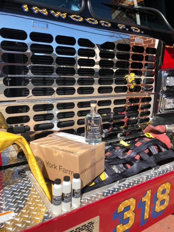 With the help of Cooper's Daughter Spirits distillery in upstate Claverack, the East Fishkill Fire Department sent 'care packages' to the Inwood Fire Department on March 27.