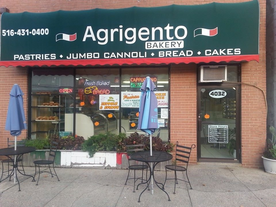 Agrigento Bakery, in Island Park, is offering curbside pickup. The shop itself is closed to customers.