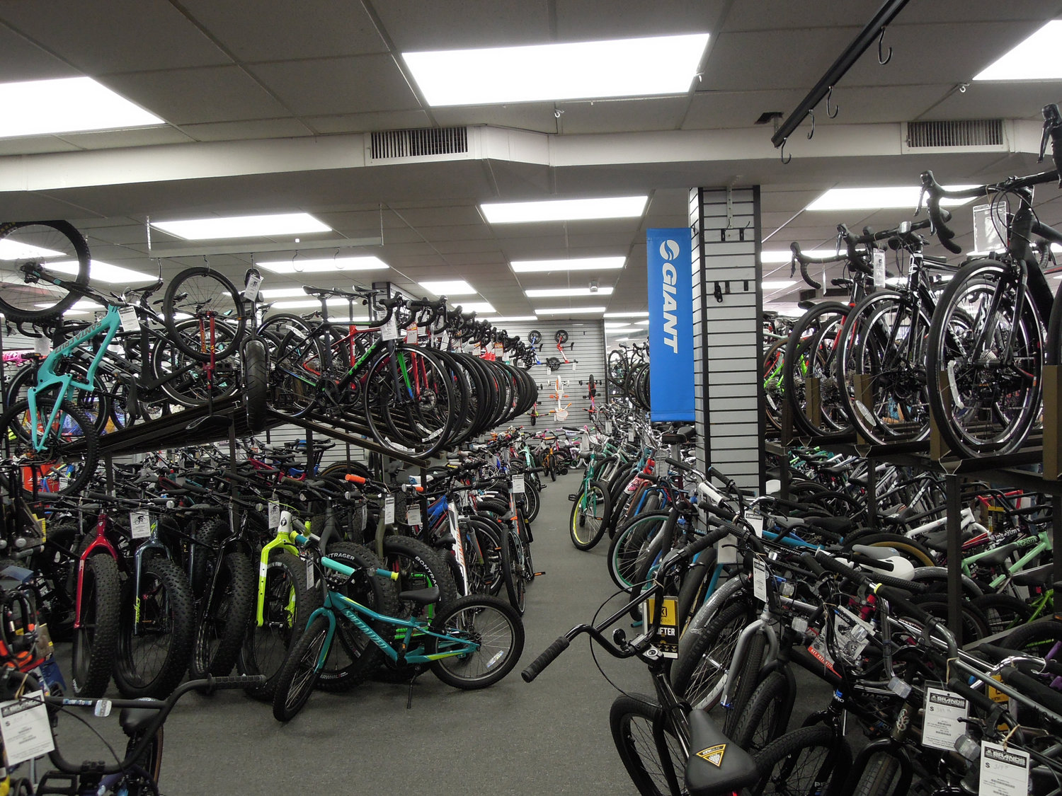 Brands Bicycles & Fitness, in Wantagh, one of the Tri-State's largest bicycle retailers, reported a moderate uptick in overall sales, compared with past years' spring increases.