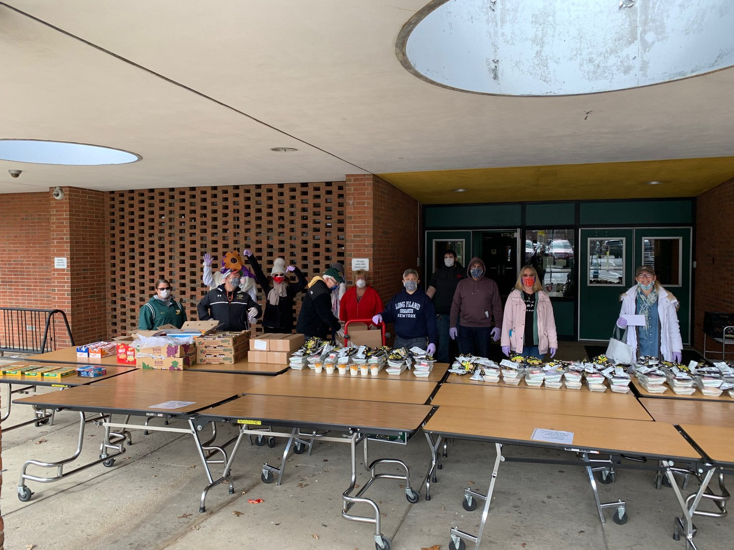 The Lynbrook Teachers Association recently purchased 45 gift cards of $30 value from local businesses to provide to families in need in the village.