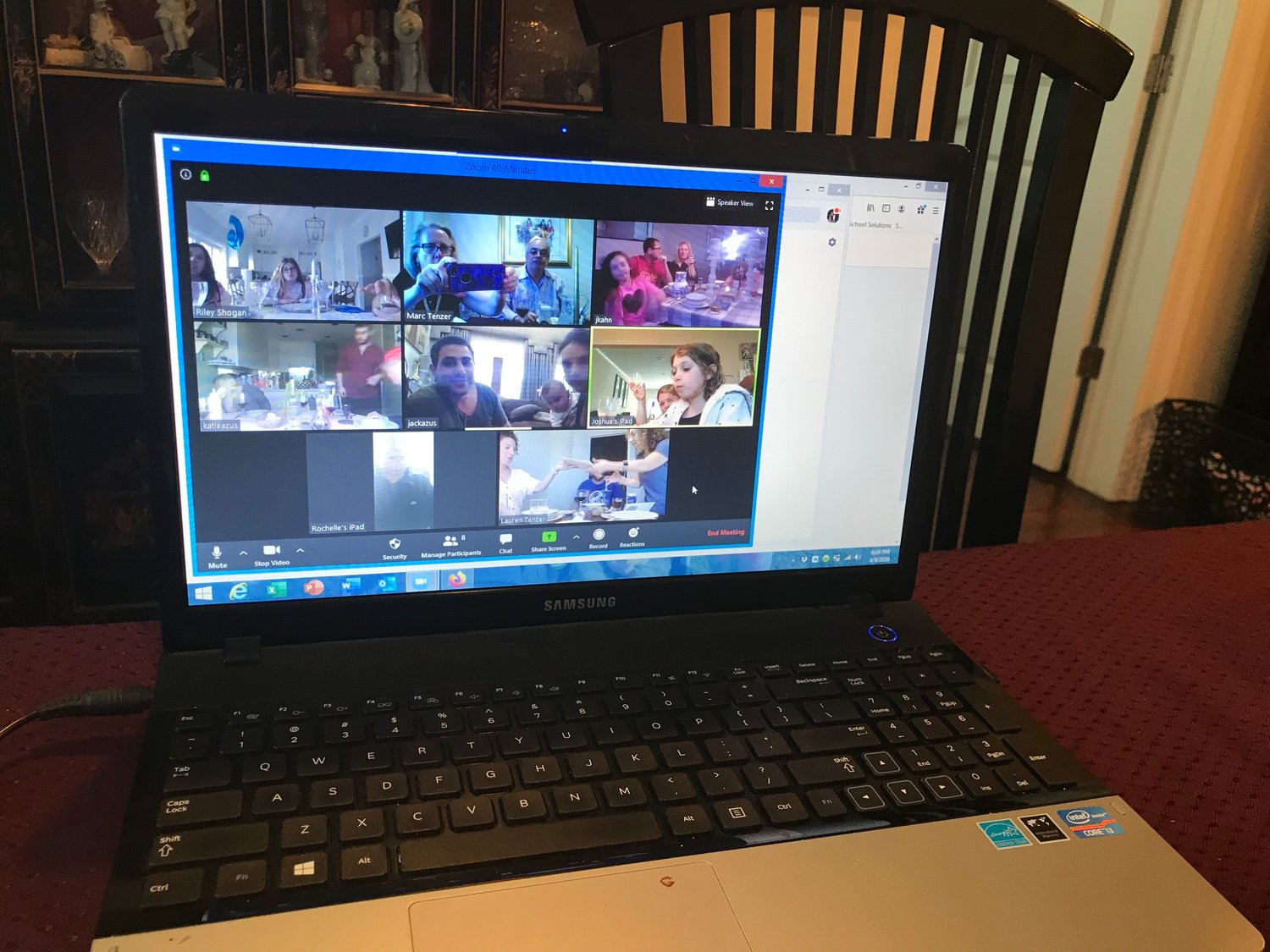Cedarhurst resident Marc Tenzer celebrated with family remotely.