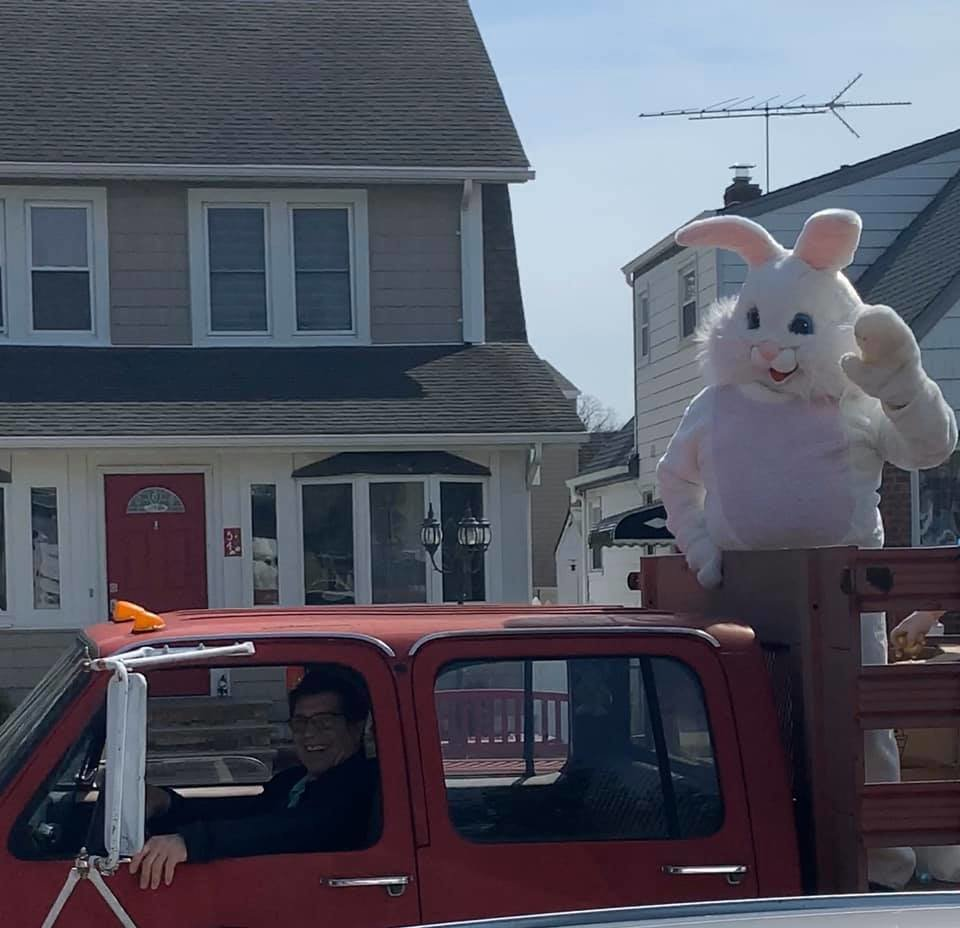 The Easter bunny visited Lynbrook and was driven around by Mayor Alan Beach on April 6.