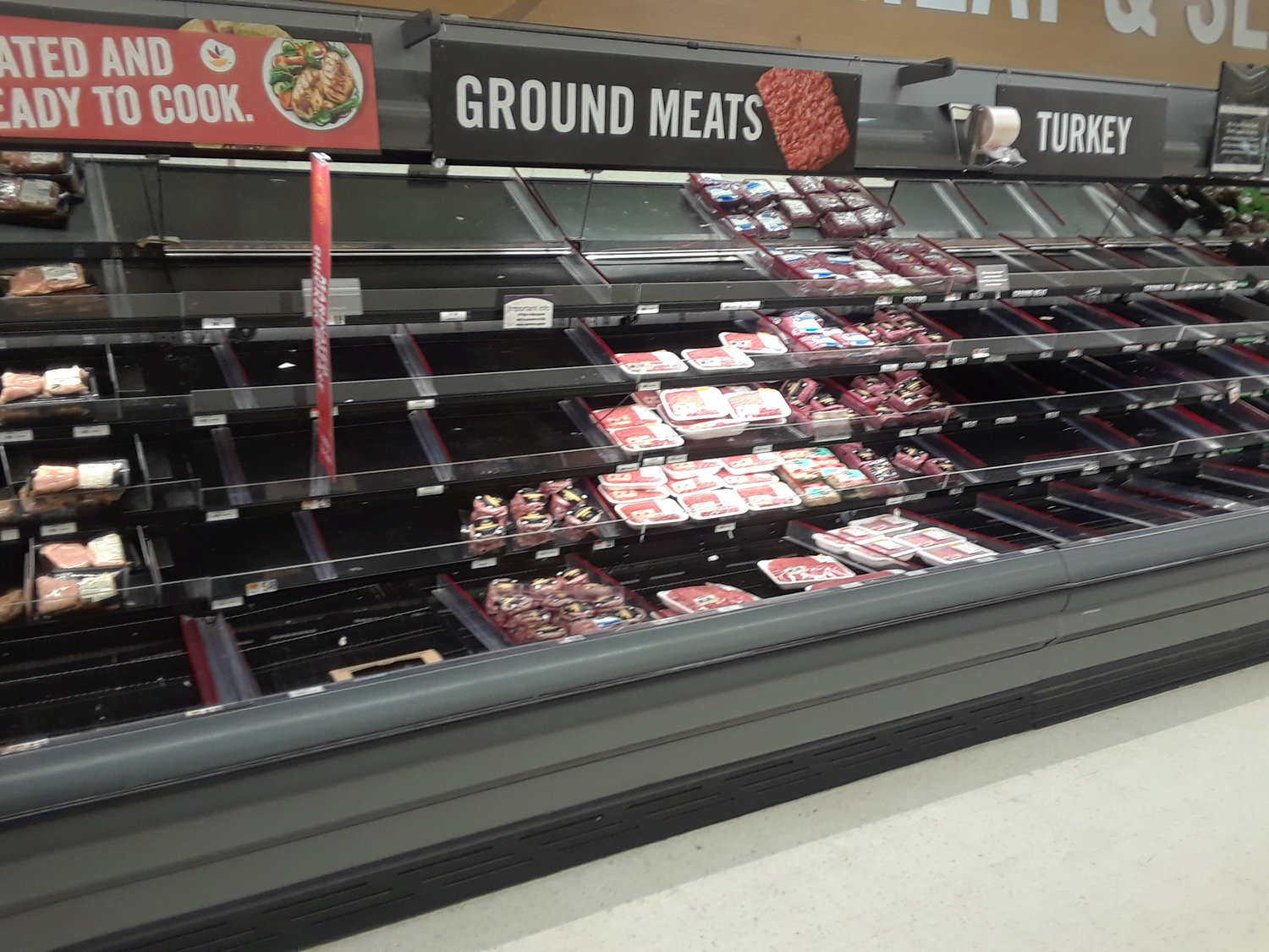 One supermarket executive recommended waiting to see what cuts of meat were available before making a menu for the week.