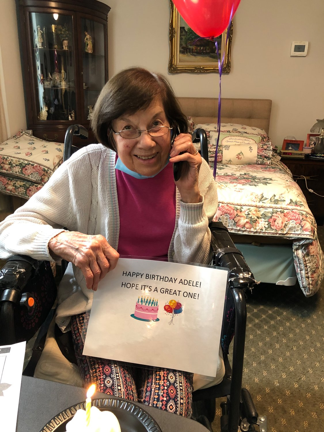 Adele Bennett, a resident at The Regency, celebrated turning 91 with her family over FaceTime.