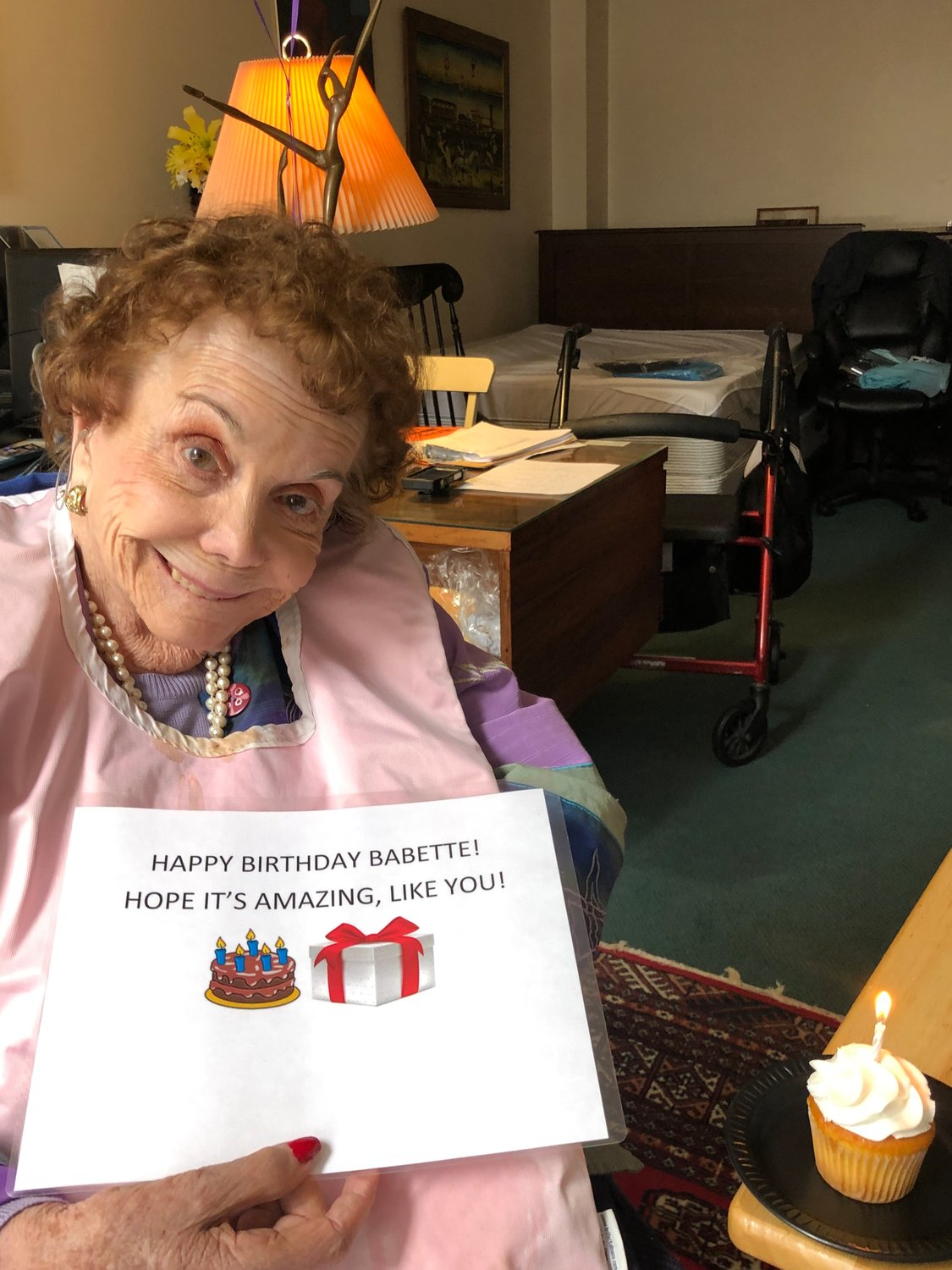 Babette Cohen turned 95 and was able to celebrate with a personalized birthday party from The Regency and a Zoom call with her family.
