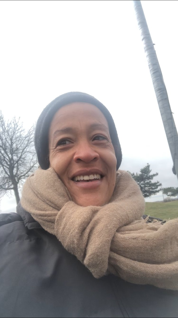 After Baldwinite Magalie Alcindor recovered from Covid-19, she took a morning walk in Baldwin Harbor Town Park.
