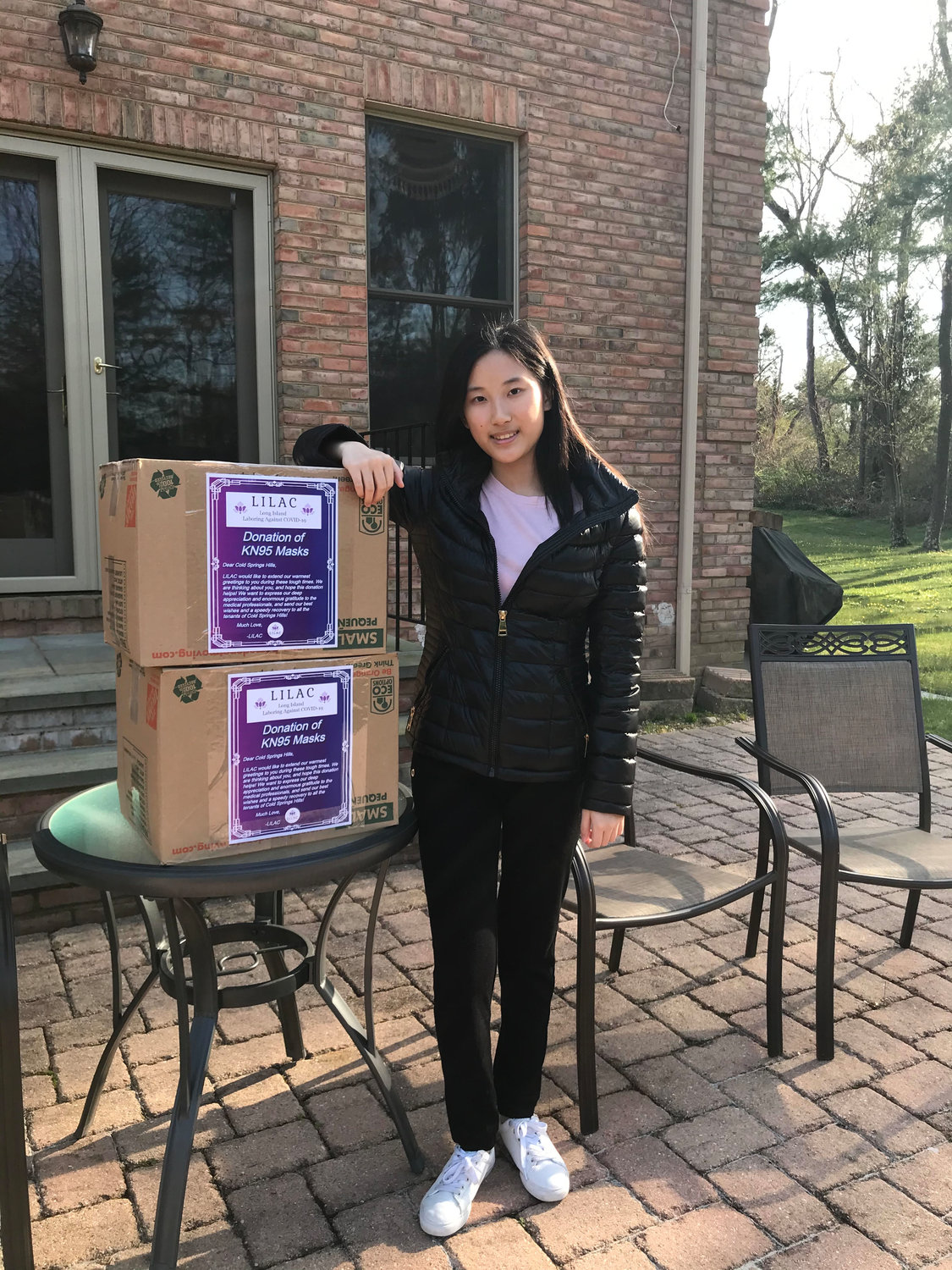Sabrina Guo, 14, founded the organization Long Island Laboring Against Covid-19 to supplement the shortage of PPE.