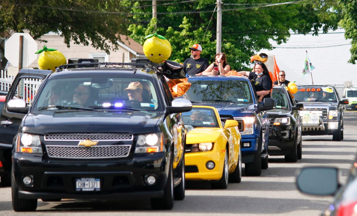 The H. Frank Carey Dads' Club's Lemonade Parade cruised down Pacific Street on May 16.