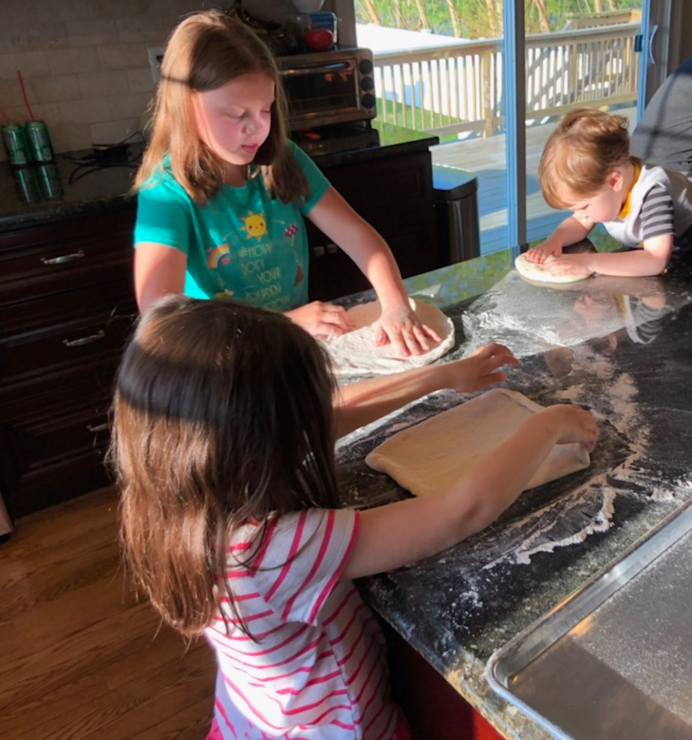 Autumn, Violet and Oliver Roth have found success with their virtual pizza parties.